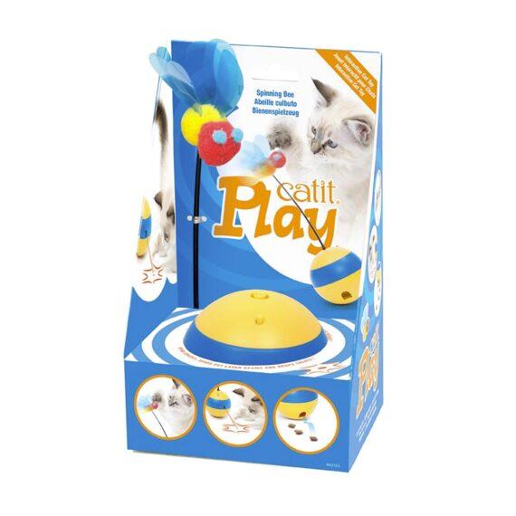 Catit Play Spinning Bee ของเล่นอินเตอร์แอคทีฟยิงเลเซอร์/ให้อาหาร