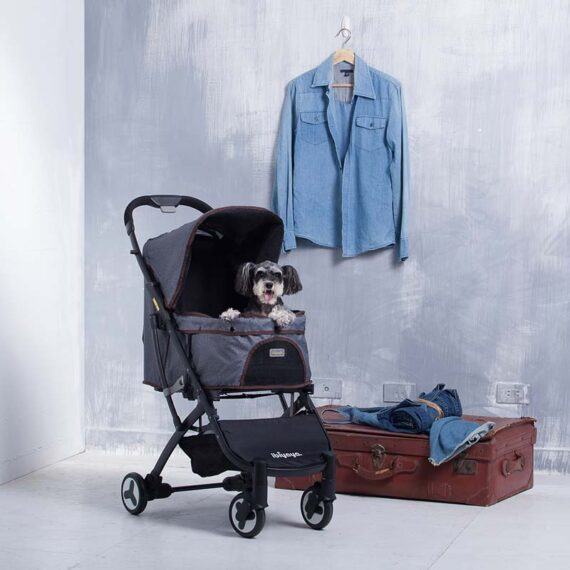 IBIYAYA Speedy Fold Pet Buggy – Grey Jeans FS1670-G