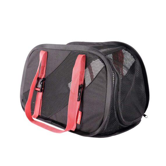 IBIYAYA Flying Pal Foldable Pet Travel Carrier – Black/Red FC1702-SR
