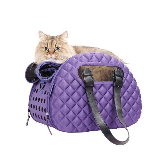 IBIYAYA Diamond Deluxe Pet Carrier – Dark Purple