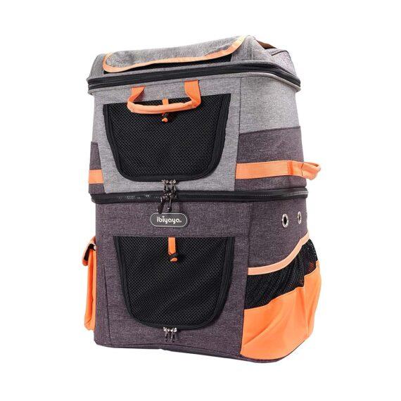 IBIYAYA Two-tier Pet Backpack FC1980-OG
