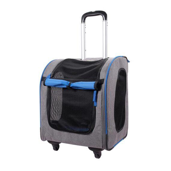 IBIYAYA New Liso Backpack Parallel Transport Pet Trolley – Slate/Sapphire FC1705-GB