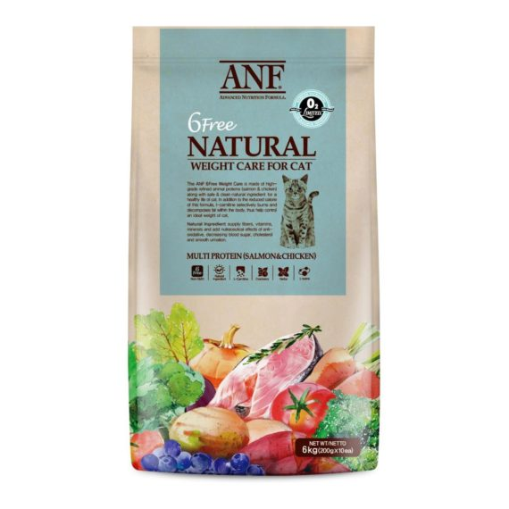 ANF CAT ORGANIC 6 FREE WEIGHT CARE 6 KG