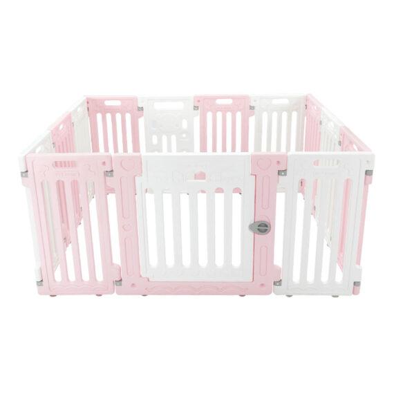 คอกสุนัข รุ่นเพ็ทโฮม M ชมพู ขาว/ Pet Fence (M)  pink white