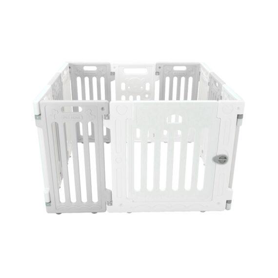 คอกสุนัข รุ่นเพ็ทโฮม S เทา ขาว/ Pet Fence (S)  gray white