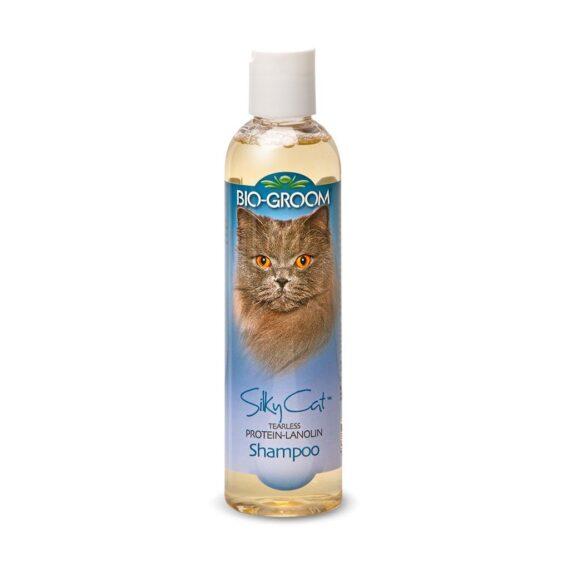 BIO-GROOM Silky Cat Shampoo แชมพูสำหรับแมวโต ขนาด 8 oz.