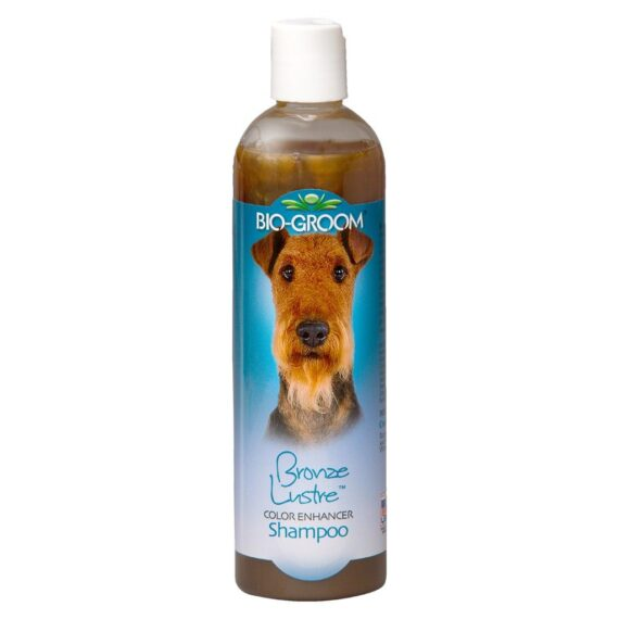 BIO-GROOM Bronze Lustre Shampoo แชมพูสำหรับสุนัขและแมวขนสีน้ำตาล หรือแดง ขนาด 12 oz.