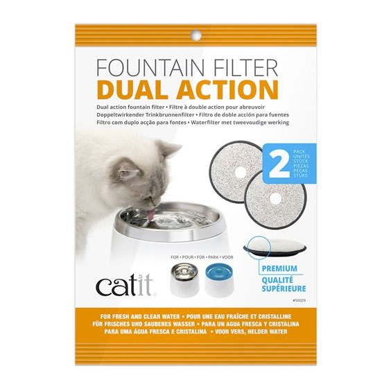 Catit Dual Action Fountain Filter 2 Pack