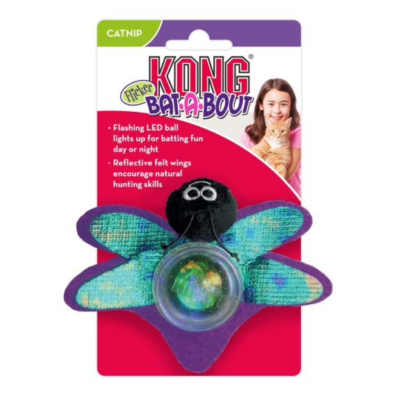KONG Bat-A-Bout Flicker Firefly Assorted for Cat