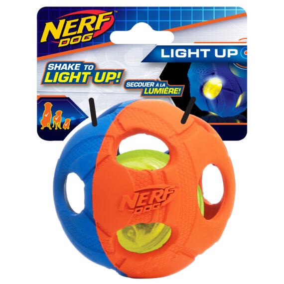 Nerf Dog LED BASH Ball Medium (3.5 in)