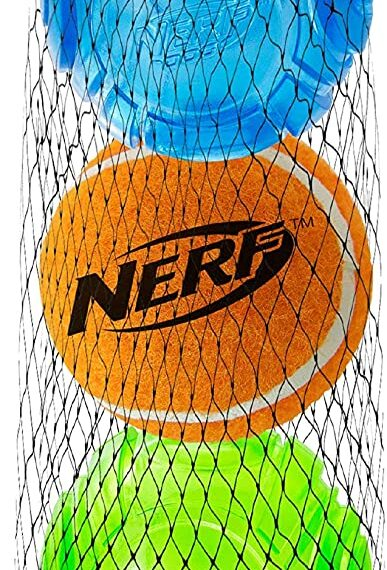 Nerf Dog LED TPR Sonic / Squeak Tennis Ball (2.5 in) – 4 Pack