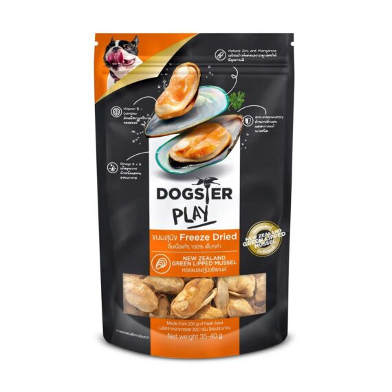 Dogster Play  สูตรหอยแมลงภู่นิวซีแลนด์  (Green lippe) 35-40g.