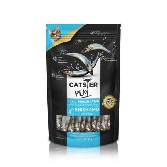 Catster play สูตรปลาไข่ (Shishamo) 40g.