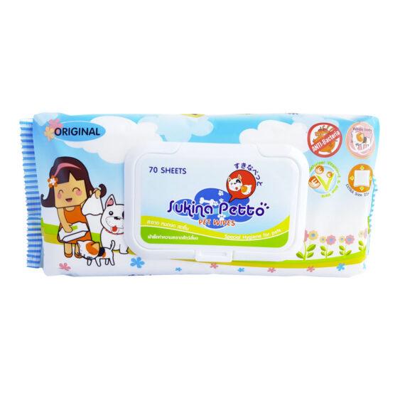 Sukina Original Pet Wipes 70 sheets
