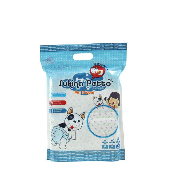 Sukina Petto Disposable Diaper Female/ ผ้าอ้อม สุนัขตัวเมีย XSSS – XL (8-12 pcs/pack)