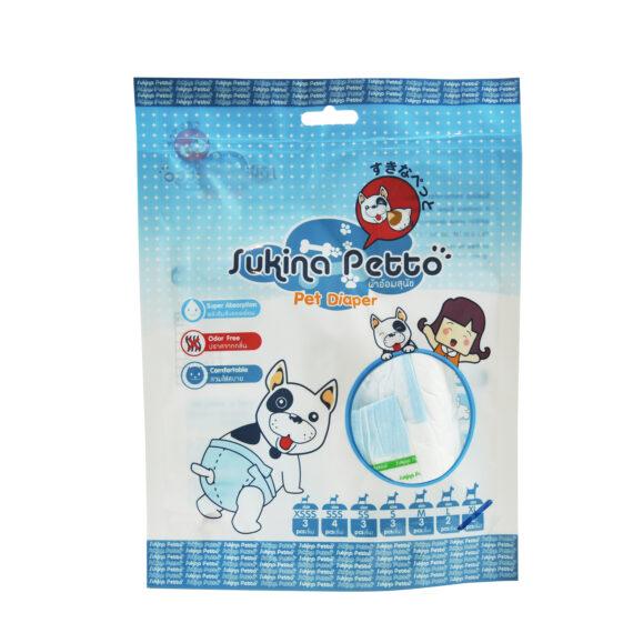 Sukina Petto Disposable Diaper Female/ ผ้าอ้อม สุนัขตัวเมีย XSSS – XL (2-4 pcs/pack)