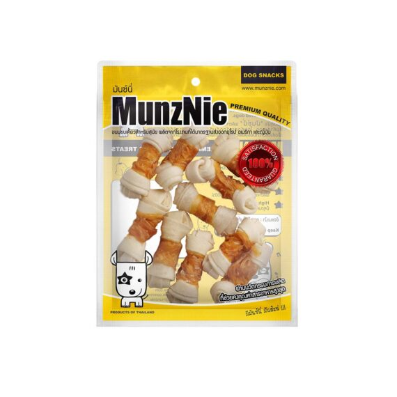 Munznie กระดูกผูกขาวพันอกไก่ 2.5″ 10 ชิ้น