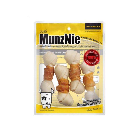 Munznie กระดูกผูกขาวพันอกไก่ 4″ 4 ชิ้น