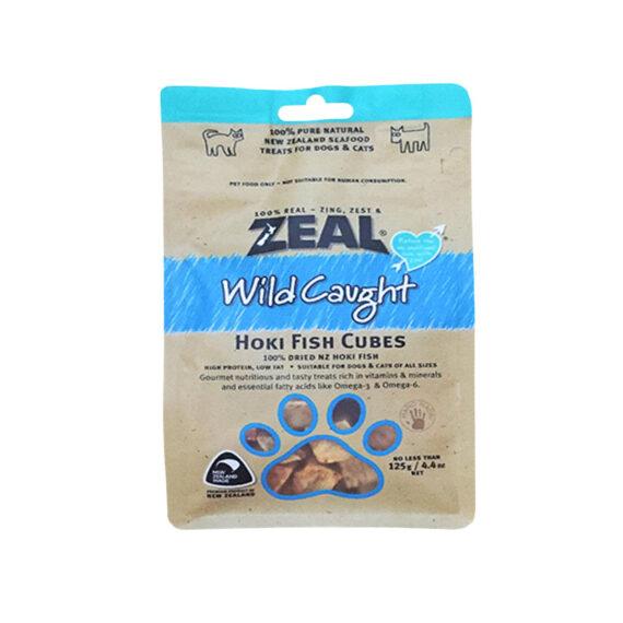 ZEAL HOKI FISH CUBES 125g/ เนื้อปลาหิมะอบแห้ง 100%